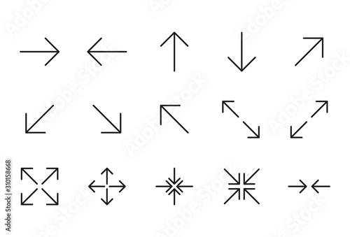 Fotografía  Icon set of arrow.