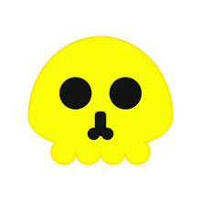 Icon Vector, Skull With Simple Shapes