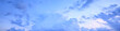 Leinwandbild Motiv spring sky clouds background /