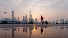 Silhouette Morning Runner Runn...