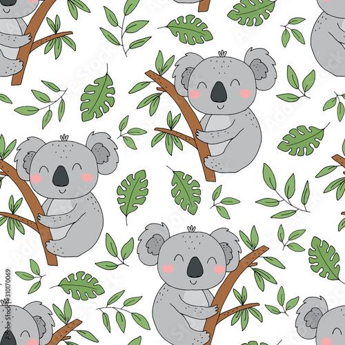 seamless-pattern-cute-character-sleeping-animal-baby-koala-bear-vector-print-for-baby