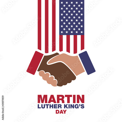Cuadros en Lienzo Martin Luther King Day, handshake in honor