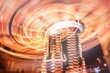 Amusement Park At Night .color...