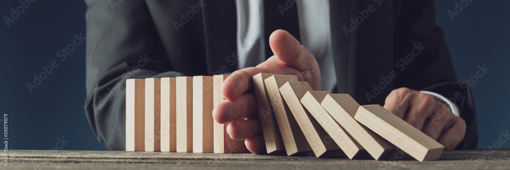 Fototapeta Conceptual image of business management and decision making