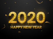 Golden Text 2020 With Marquee ...