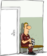 Sad Football Player .