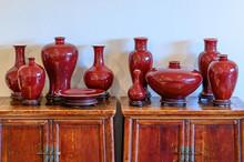 Red Oxblood Glazed Porcelain V...