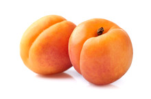 Two Apricots In Closeup