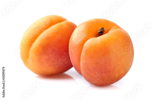 Foto Two apricots in closeup