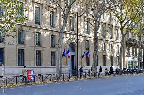 Paris; France - novembre 22 2019 : boulevard Saint Germain Canvas Print