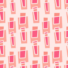 Geometric Seamless Pattern. Trendy Minimalist Background In Pink Colors