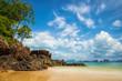 Strand auf Koh Yao Noi in der Phang Nga bay, Thailand