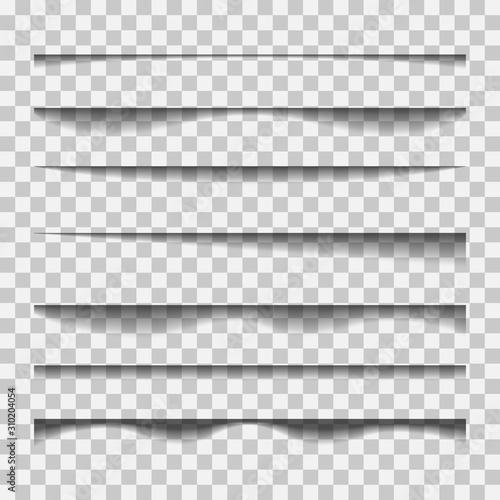 Photo Vector shadows isolated.