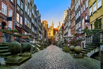 Architecture of Mariacka street in Gdansk is one of the most notable tourist attractions in Gdansk. Poland