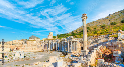 Antoninus Fountain of Sagalassos in Burdur, Turkey Wallpaper Mural