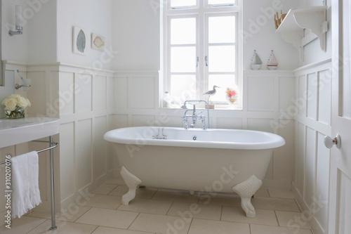 Bathtub In Bathroom Fototapet