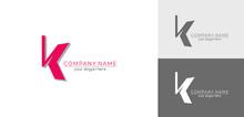 Letter K Logo Or Monogram. Bla...