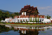 Royal Pavilion In Royal Park Rajapruek Which In Botanical Garden & Must See For Tourist In Chiang Mai, Thailand