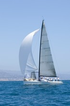 Sailboat Racing In The Blue Oc...