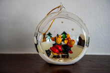 Crystal Ball With Two Reindeer...