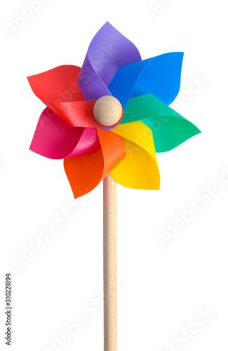 Rainbow Pinwheel Canvas-taulu