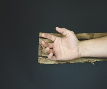 Hand Of Jesus Christ On A Wood...