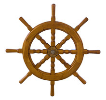 Wooden Sea Ship Rudder, Isolat...