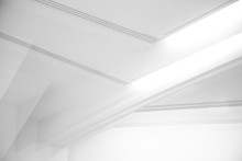 Ceiling And Glowing Girders Wi...