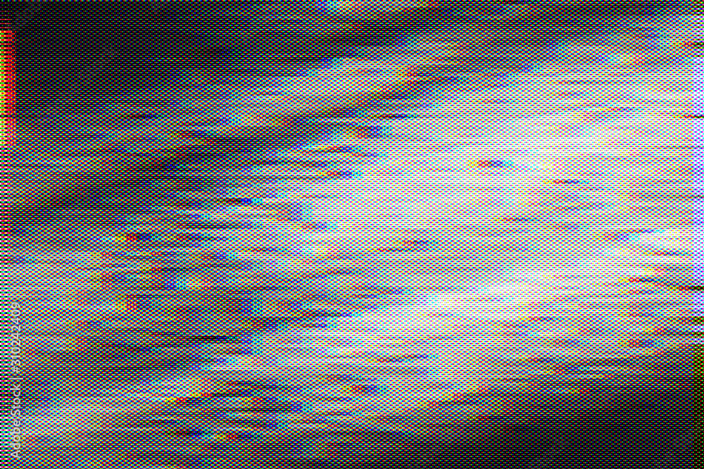 Fototapeta Abstract background of Test Screen Glitch Texture
