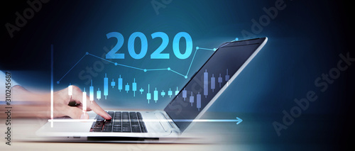 Obraz The concept of financial trading. Stock market and exchange. in 2020 - fototapety do salonu