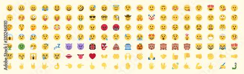 All emojis vector set Wallpaper Mural