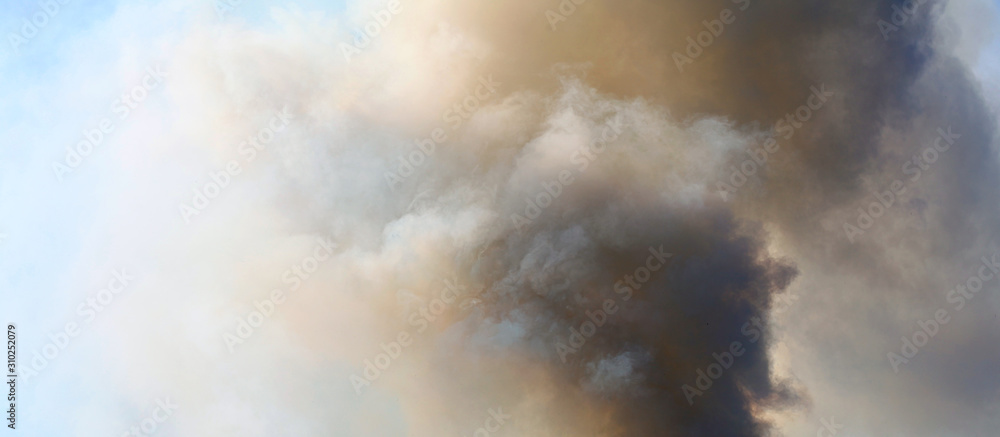 Fototapeta Abstract sky smoke storm dramatic background.