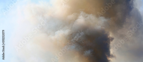 Foto  Abstract sky smoke storm dramatic background.