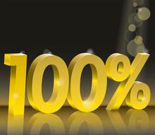 Discount 100 Percent Off. Gold...