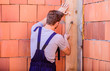 General maintenance and repair workers are hired for maintenance and repair tasks. Use hammer. Worker with hammer brick wall background. Building and construction. Engineer with hammer tool