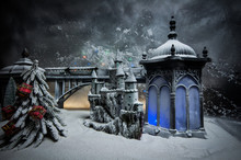 Miniature Of Winter Scene With...