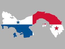 Panama Map Flag Vector Illustration Eps 10