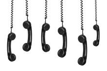 Black Vintage Phones Hanging O...