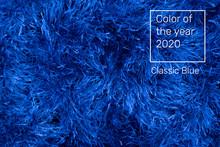 Blue Artificial Fur For Texture