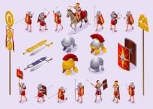 Roman Legionaries Set Isometri...