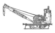 Vintage Steam Crane