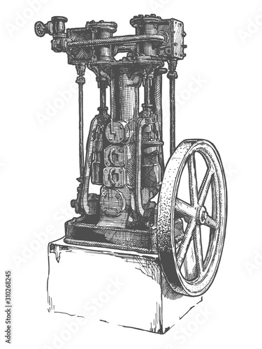 Photo Stationary steam engine