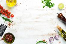 Food Banner. Spices, Vegetable...