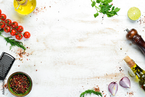 Food banner Canvas Print