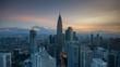 Timelapse of Kuala Lumpur city during sunrise