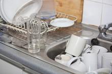 Washing-up In Office Kitchen Sink