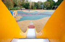View Down A Slide In A Playgro...
