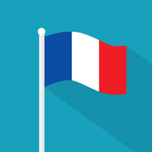 France Flag Icon- Vector Illustration