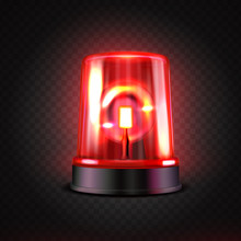 Realistic Red Led Flasher. Red...