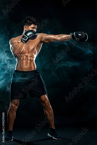 Fitness and boxing concept Canvas Print